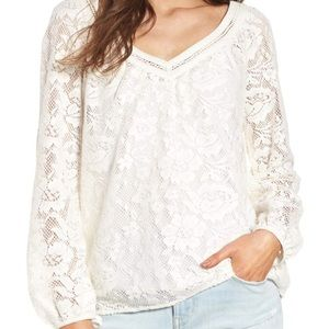 Gorgeous V Neck Ivory Lace Top